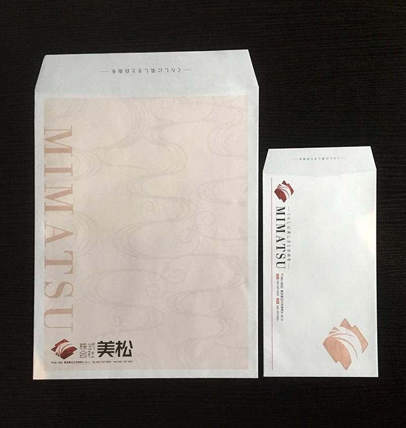 立川 封筒デザイン 和風 不動産